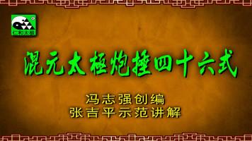张吉平混元太极炮捶四十六式-冯志强混元46炮捶-仁和太极