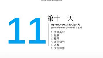 第11天_micropython语言极速入门