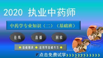 执业药师【2020中药学专业知识(二)】基础班