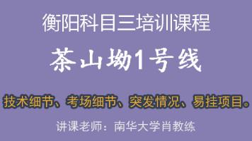 1号线详细讲解2019年1月17日版(第二节),衡阳科目三茶山坳考场