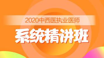 2020中西医执业医师-系统精讲班
