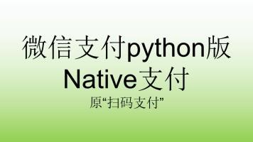 """微信支付python版Native支付_原""""扫码支付"""""""