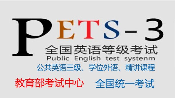 公共英语三级(含真题解析、模拟练习)——名师顶尖精品课程