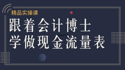 财务技能/实操/现金流量表/财务报表