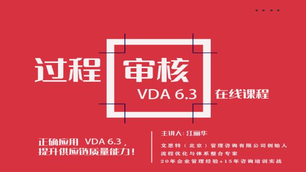 过程审核(VDA6.3)