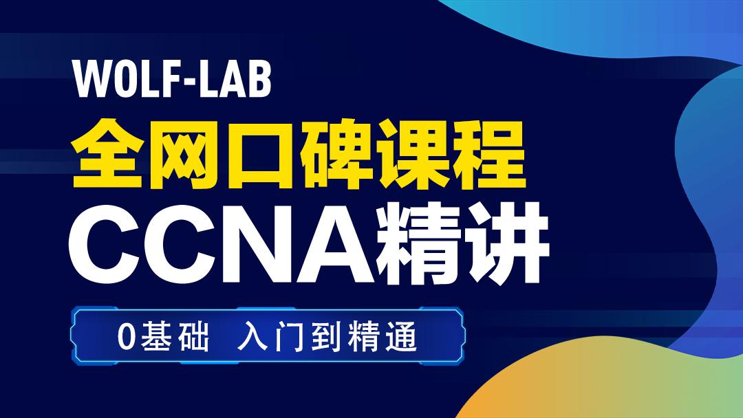 5IE讲师,WOLF实验室CCNA-零基础、初学者量身打造CCNA/CCNP/CCIE