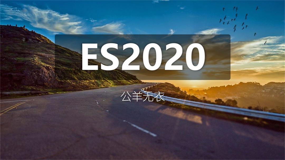 前端教程 ES2020版本更新的特性