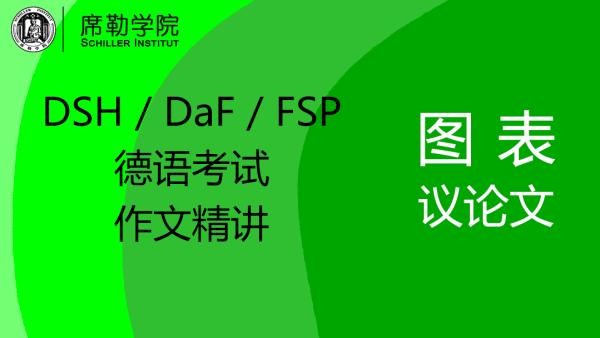 DSH/DaF/FSP德语考试作文精讲 图表议论文