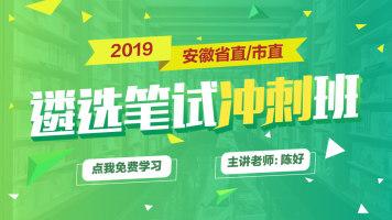 2019安徽省直/市直遴选笔试冲刺班