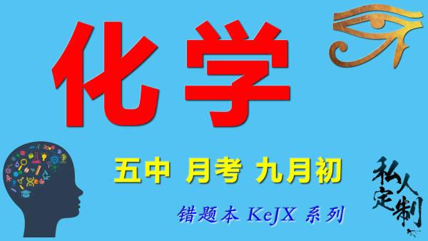 【定制课程】0901 化学 五中 月考 九月初 错题本 KeJX 系列