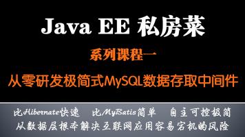 JavaEE私房菜系列课程(一)从零研发极简式MySQL数据存取中间件