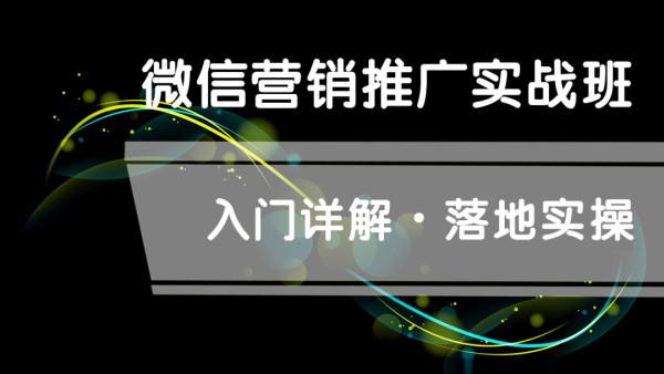 VIP微信营销推广实操系统培训班 新媒体营销推广实操微商零基础