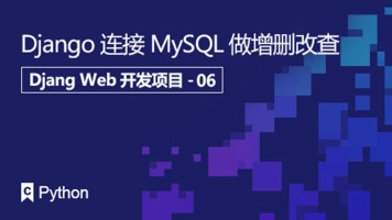 Django Web开发系列课程:Django连接MySQL做增删改查
