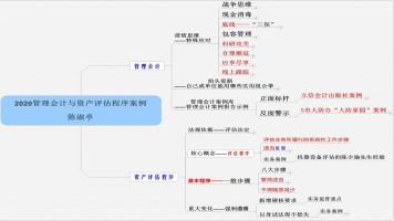 《2020管理会计与评估程序案例》讲座(陈淑亭 )