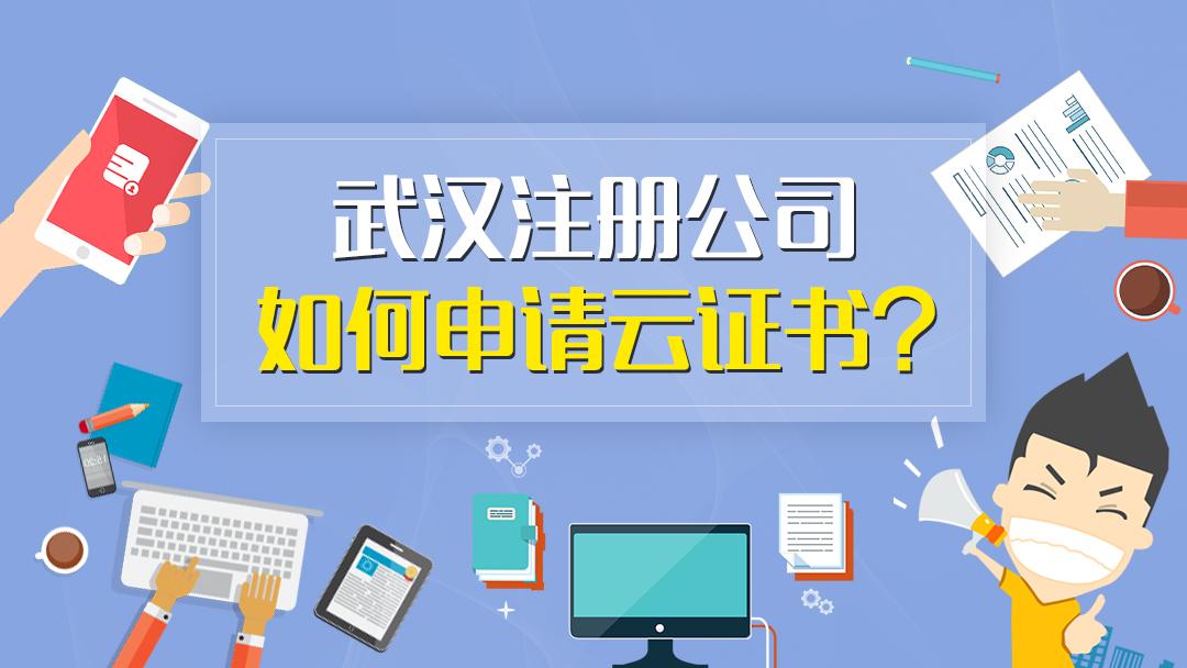武汉注册公司全程网上办怎么申请云证书