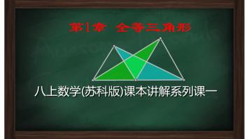 初二数学上册《第1章全等三角形》课本讲解(苏科版数学八年级上)