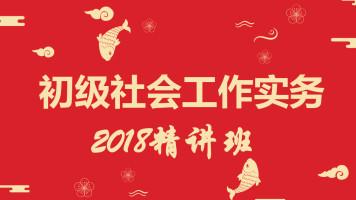 2018初级社会工作实务 助理社会工作师 社会工作者 精讲班