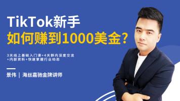 新手如何用TikTok赚到1000美金!