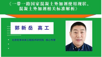 郭新岳——一带一路国家砼外加剂使用现状及砼外加剂相关标准解析
