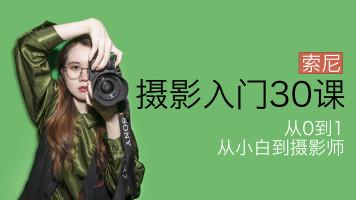 【索尼篇】摄影入门30课,0基础到自主创作