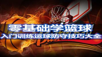 零基础学篮球教学视频教程训练课程运球防守大全打篮球技巧战术