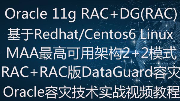 Oracle 11g MAA RAC下dataguard容灾(2+2)实施部署实战视频教程