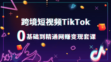 TikTok跨境短视频零基础到精通网赚变现套课-百聚汇