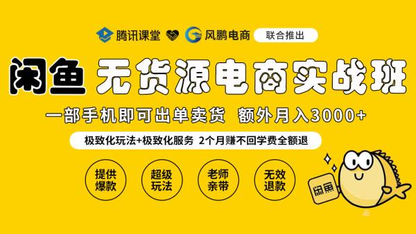 2021闲鱼无货源电商实战超级培训VIP班【风鹏电商】