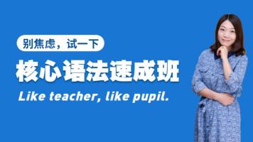 2021高考• 英语核心语法速成班
