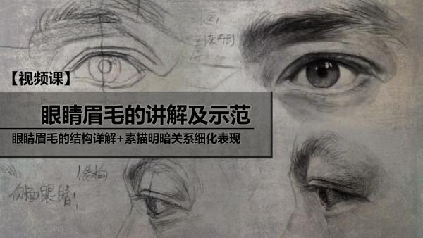 眼睛眉毛的讲解及示范