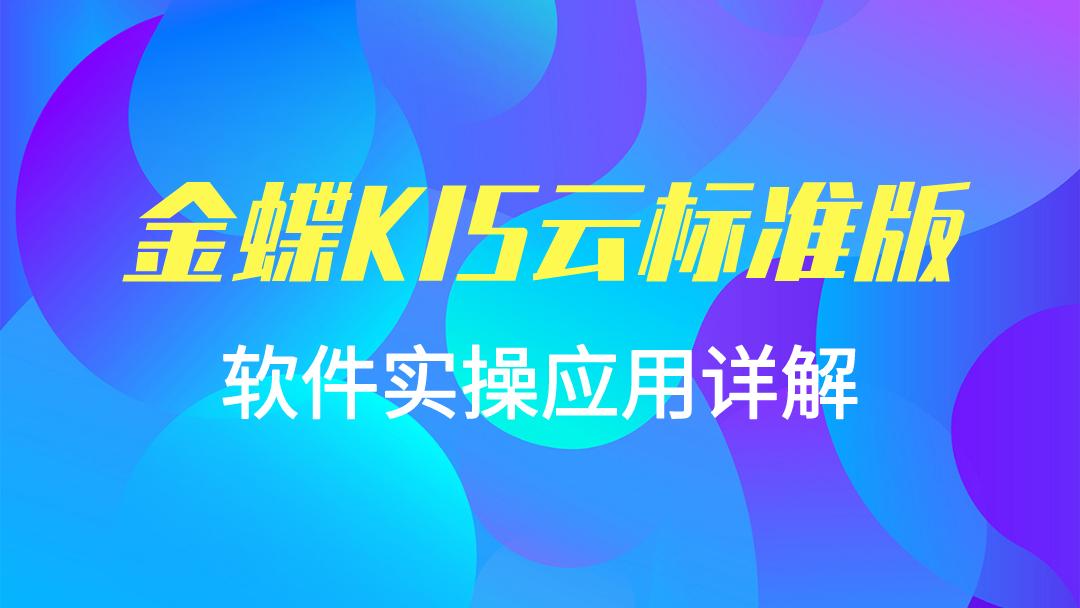金蝶KIS云标准版-最新软件实操应用详解