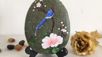diy手绘石头画手绘彩石 石头画零基础网络绘画培训