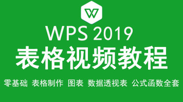 WPS2019表格视频教程 Excel办公表格制作公式与函数全套教学