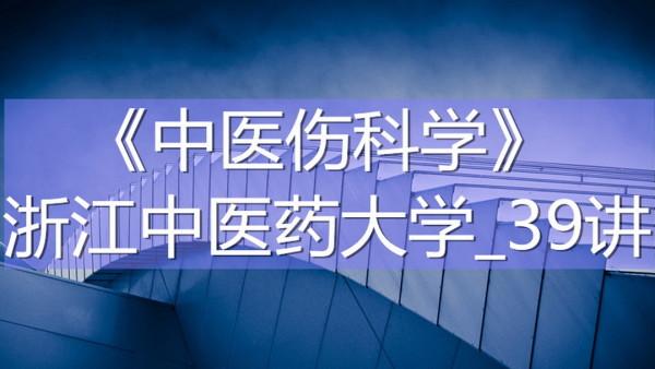 K7722_《中医伤科学》_浙江中医药大学_39讲