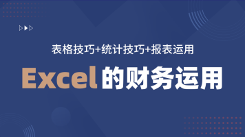 EXCEL的财务运用(表格技巧+统计技巧+报表运用)/会计实操/办公