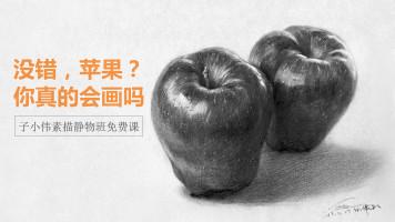 子小伟老师素描公开课-教你画苹果【重彩堂教育】