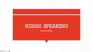 General English IG2020 Speaking