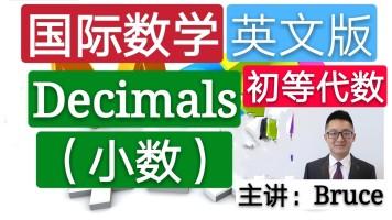 【精品课】小学国际数学英文版(初等代数)(小数)