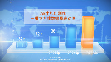 AE中如何制作立体柱状图表