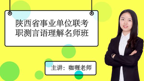 陕西省事业单位联考职测言语理解名师班