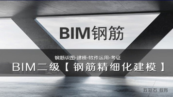五彩石BIM课堂【BIM钢筋精细化建模班】