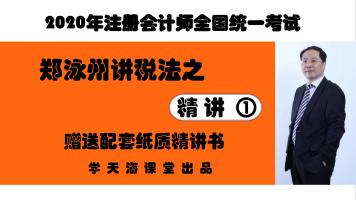2020CPA注册会计师—税法—精讲班—【学天海课堂】-赠配套精讲书
