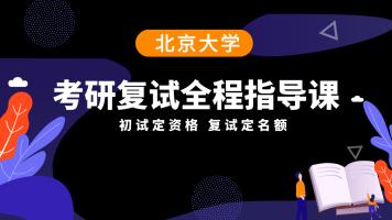 北京大学考研复试指导课