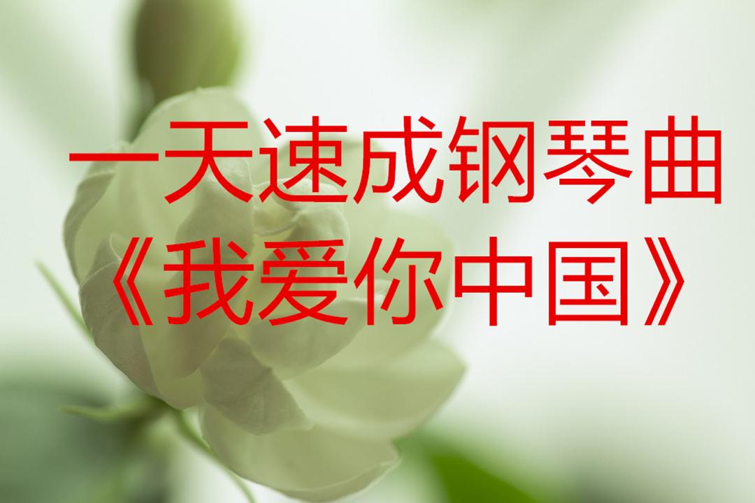 一天钢琴速成教学《我爱你中国》