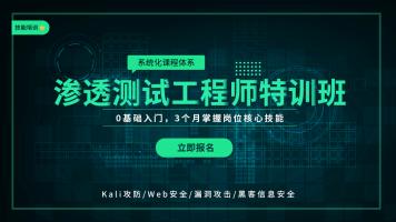 渗透测试工程师特训班(Kali攻防/Web安全/漏洞攻击/黑客信息安全
