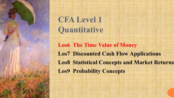 CFA Level 1 Quantitatives