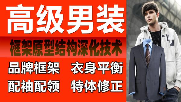 男装服装设计男子原型六面原型基型T恤西装结构立裁CAD打版制版