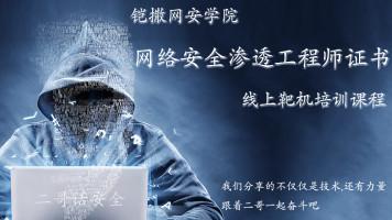 网络安全渗透工程师证书考试培训线上教程+靶场实操(1——35讲)
