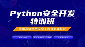 Python安全开发特训班(Python/网络编程/自动化/扫描器/漏洞)