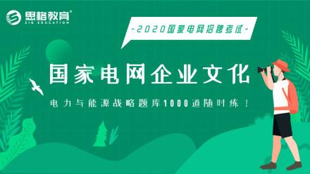 2020国家电网企业文化、新能源战略1000题库随手练